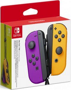 Набор контроллеров Joy-Con для Nintendo Switch (неоново фиолетовый и неоново оранжевый)