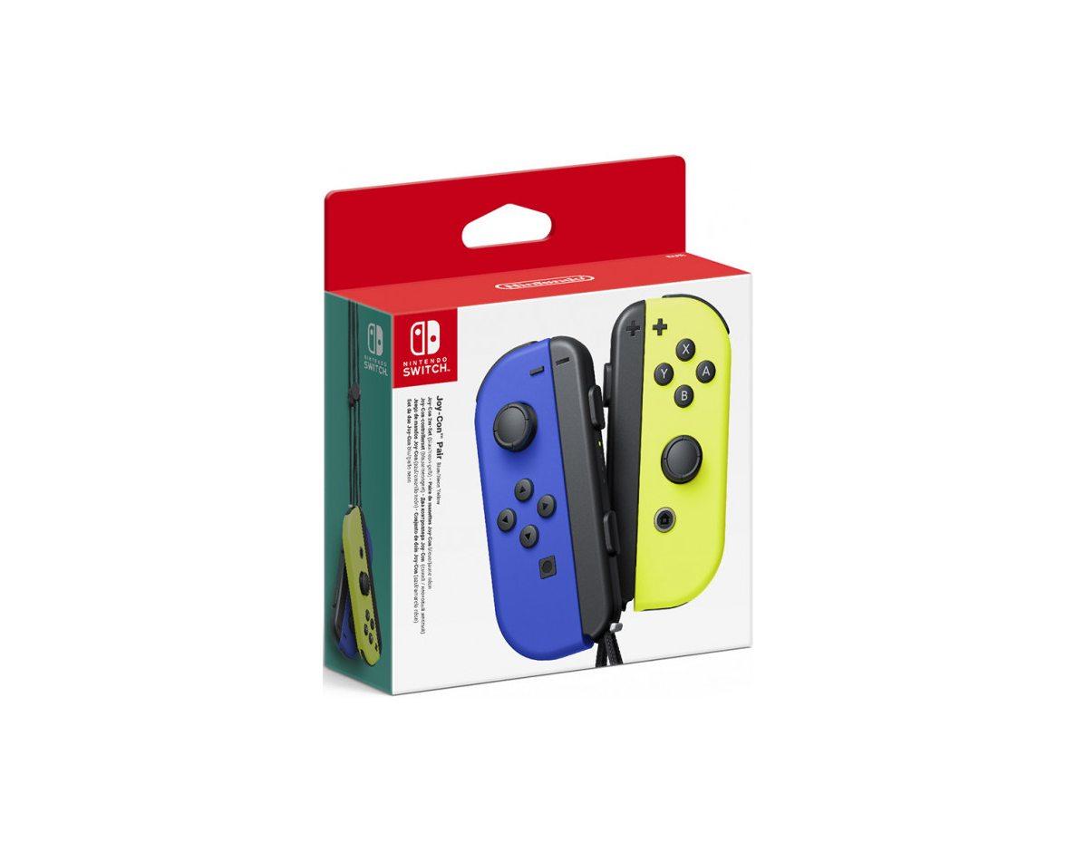Набор контроллеров Joy-Con для Nintendo Switch (синий и неоново желтый)