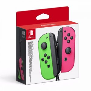 Набор 2 Контроллера Joy-Con (неоновый зелёный и неоновый розовый)