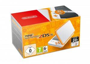 New Nintendo 2DS XL (белый и оранжевый)