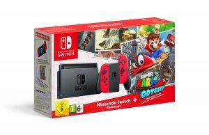 Комплект Nintendo Switch красный Super Mario Odyssey