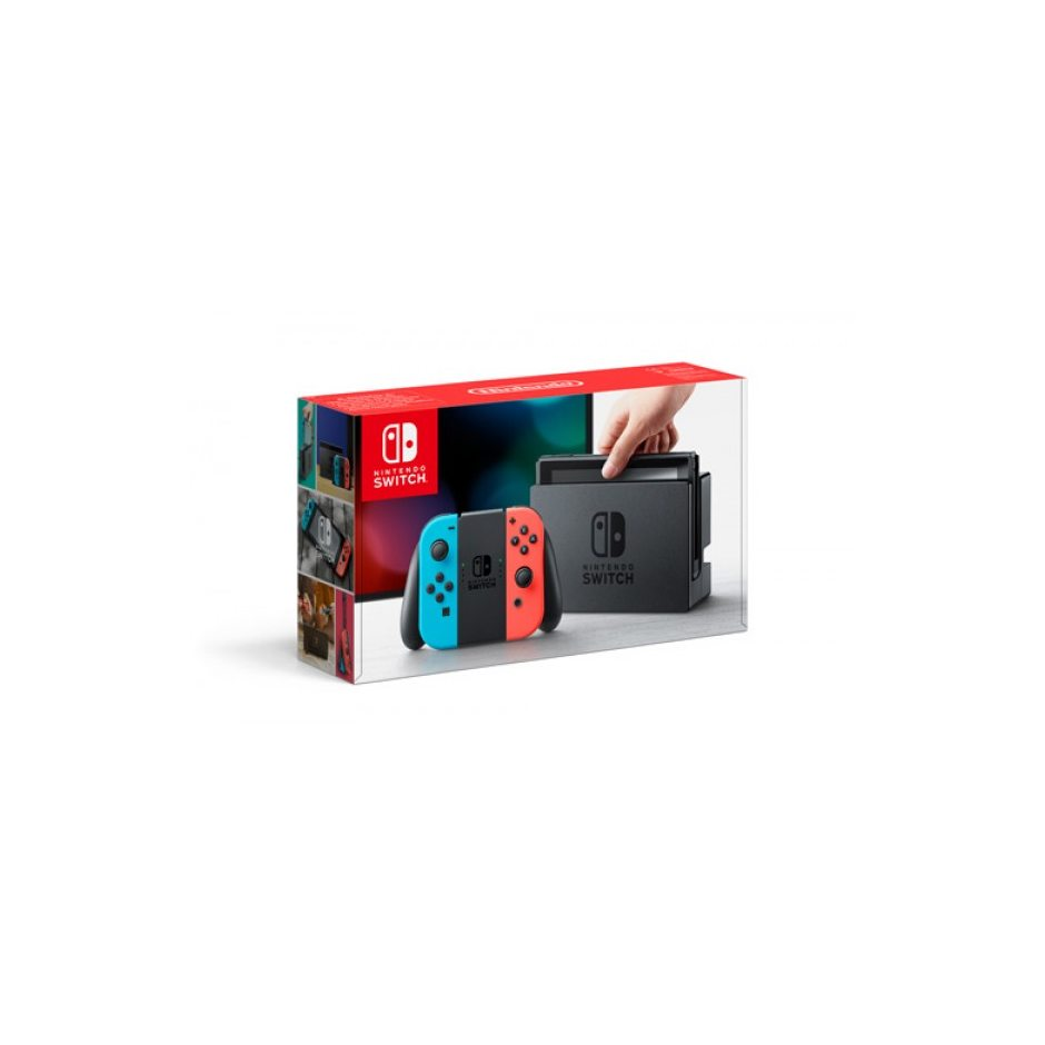 Nintendo Switch (неоновый красный, неоновый синий)