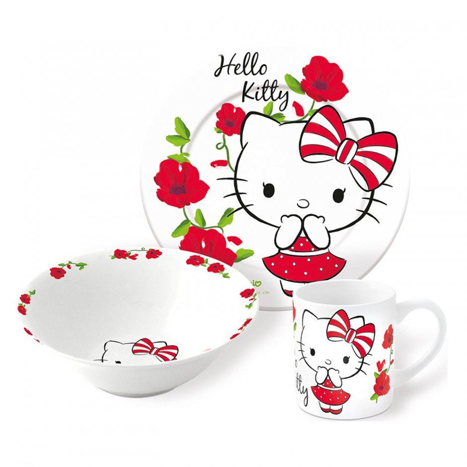 Набор керамической посуды Hello Kitty