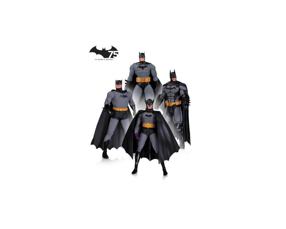 Набор фигурок Batman. 75th Anniversary V1 4 в 1 17 см