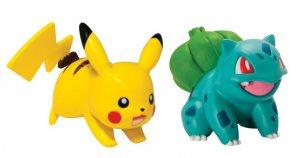 Набор фигурок Pokemon: Bulbasaur vs. Pikachu