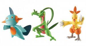 Набор фигурок Pokemon: Grovyle, Combusken и Marshtomp