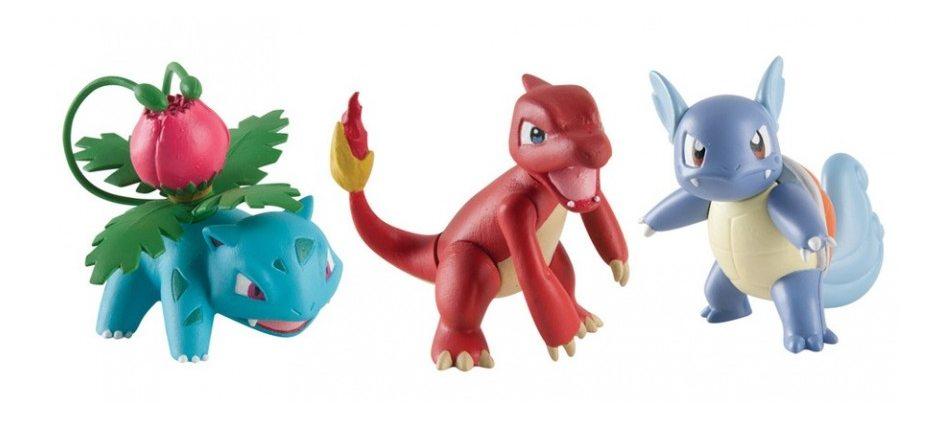 Набор фигурок Pokemon: Ivysaur, Charmeleon и Wartortle