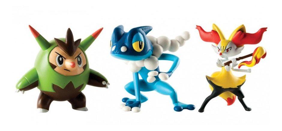 Набор фигурок Pokemon: Quilladin, Braixen и Frogadier
