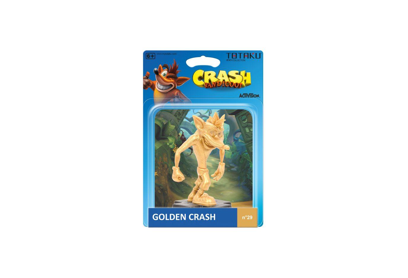 Фигурка TOTAKU Collection: Crash Bandicoot Golden Crash. Limited Edition 10 см