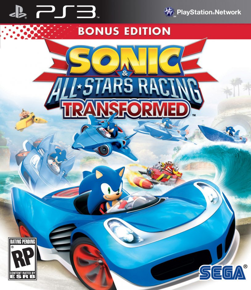 PS3 Sonic and All-Star Racing Transformed PS3