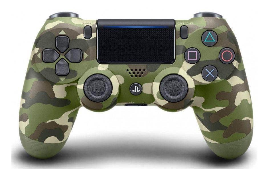 Геймпад DualShock 4 для PS4 беспроводной Green Cammo (камуфляжный)