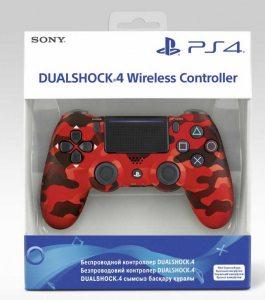 Геймпад DualShock 4 Cont Red Camouflage беспроводной (красный камуфляж)