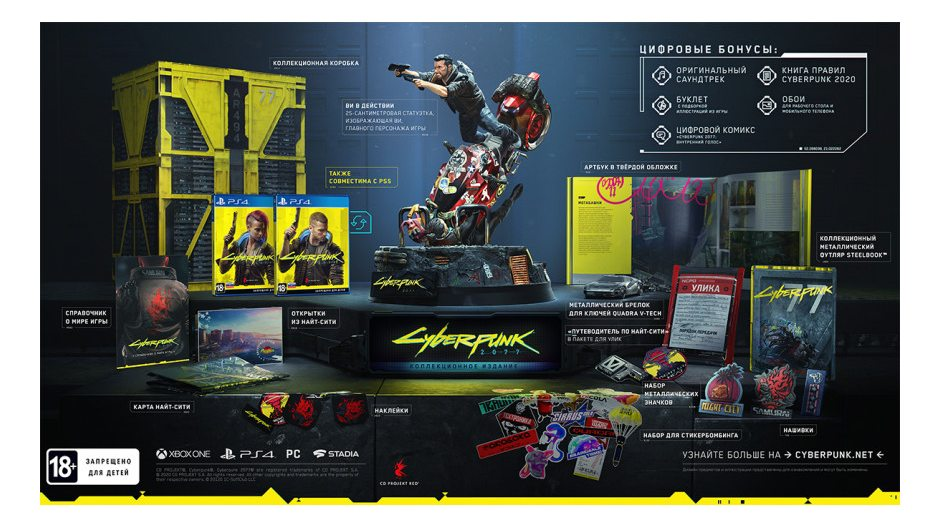 PS 4 Cyberpunk 2077. Collector's Edition PS 4