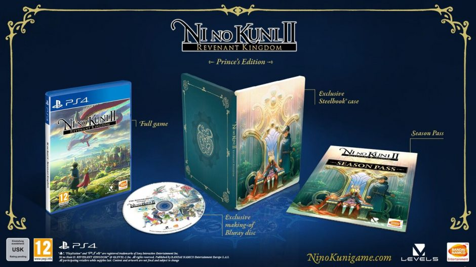 PS 4 Ni no Kuni II: Возрождение Короля. Prince's Edition PS 4