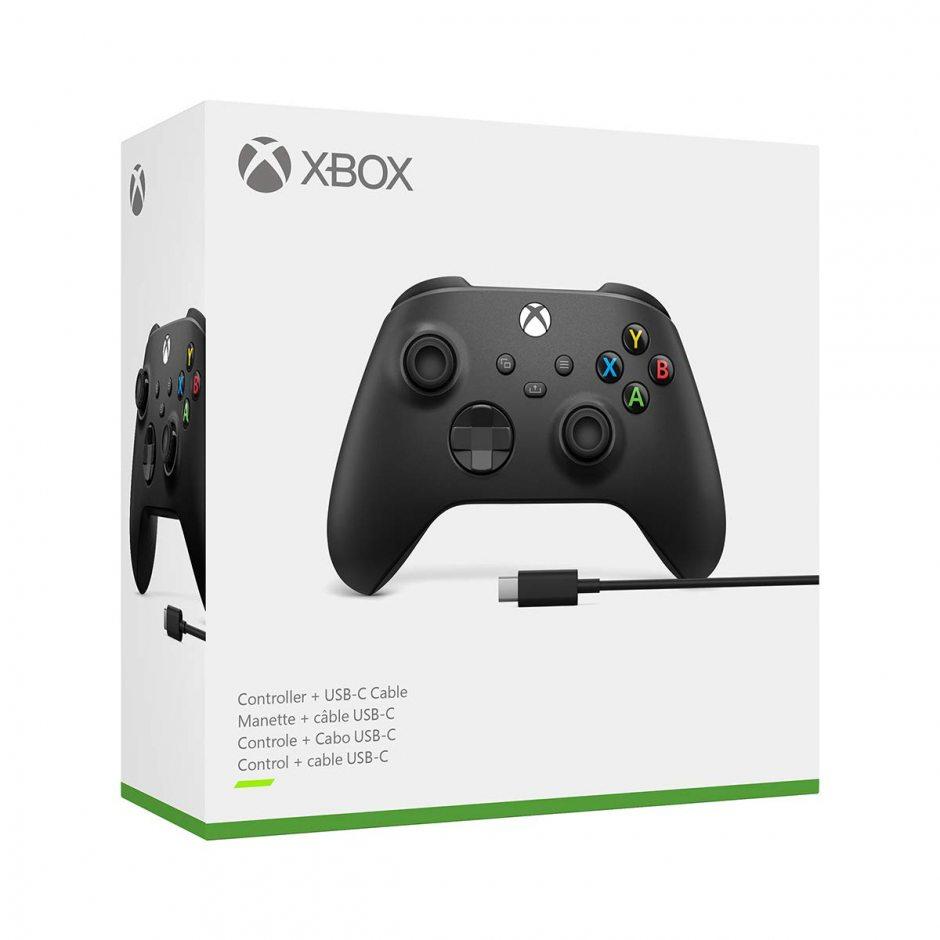 Беспроводной геймпад для Xbox (Черный) и кабель USB Type-C