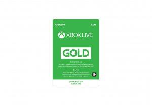 Золотой статус Xbox Live Gold 6 месяцев Xbox, цифровая версия